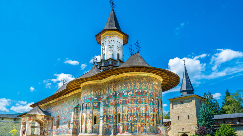 Sucevita orthodox painted church monastery, Suceava town, Moldavia, Bucovina, Romania