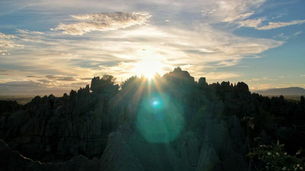 Sunrise over western tsingy, Ankarana, Madagascar