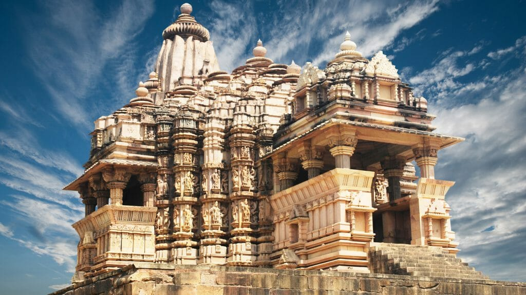 Temple, Khajuraho, Madhya Pradesh, India