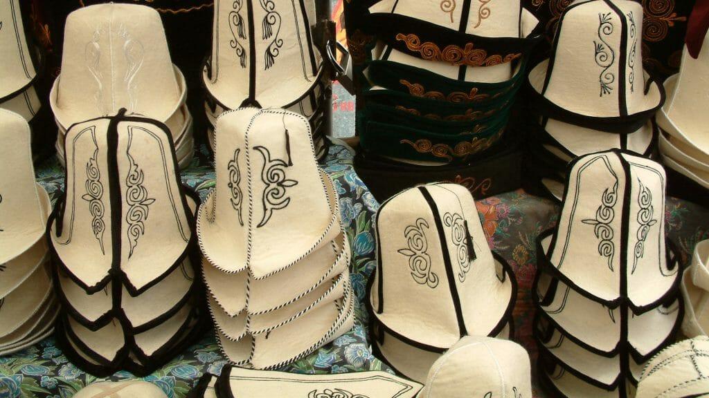 Traditional Kyrgyz Felt Hats, Kyrghyzstan