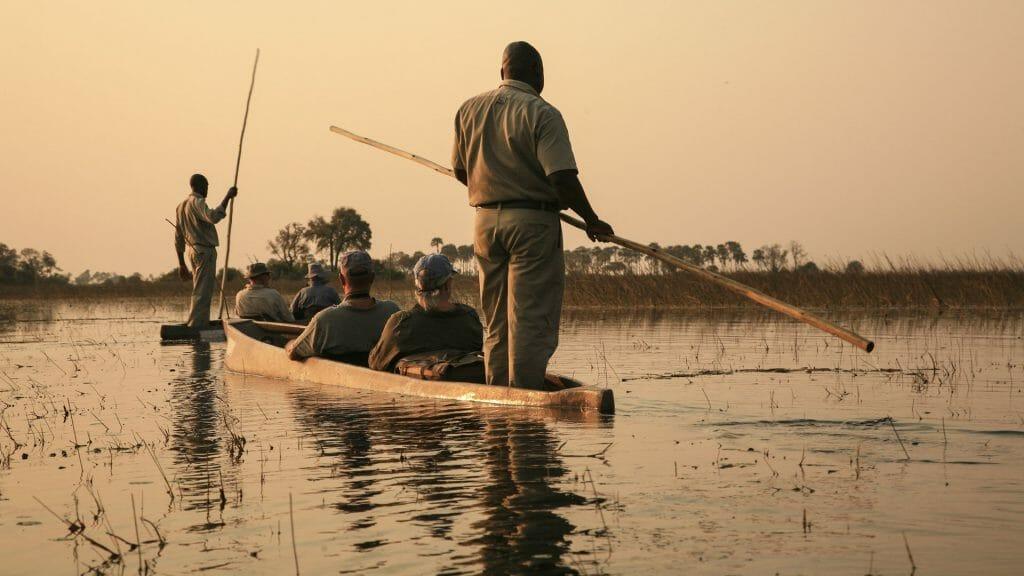 Traditional Mokoro, Okavango Delta, Botswana