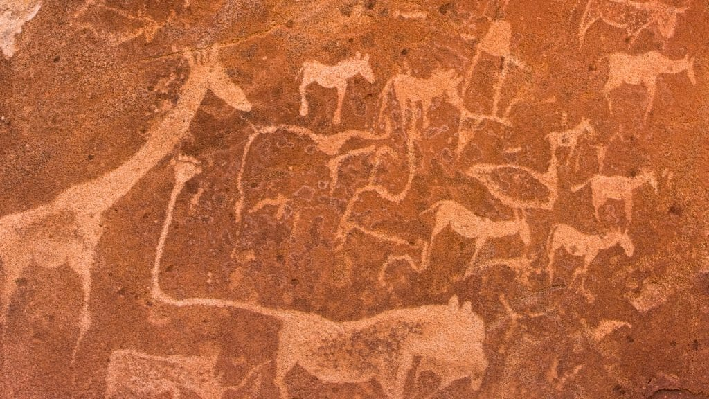 Twyfelfontein Rock Art, Damaraland, Namibia
