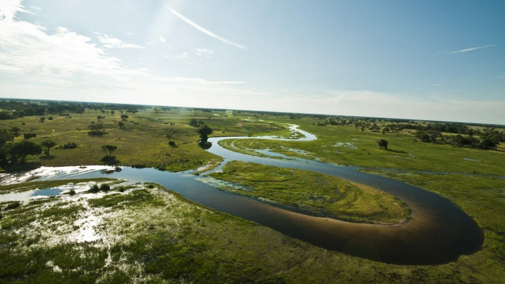 View from above, helicopter, safari, Botswana Safari, Helicopter Horizon
