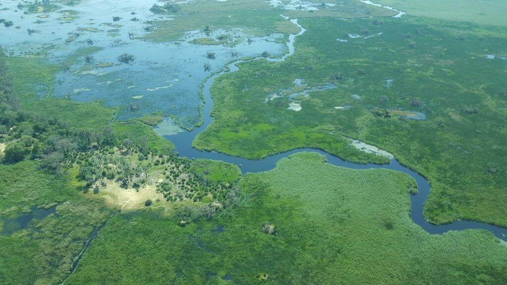View from the air, Okavango Delta, Botswana