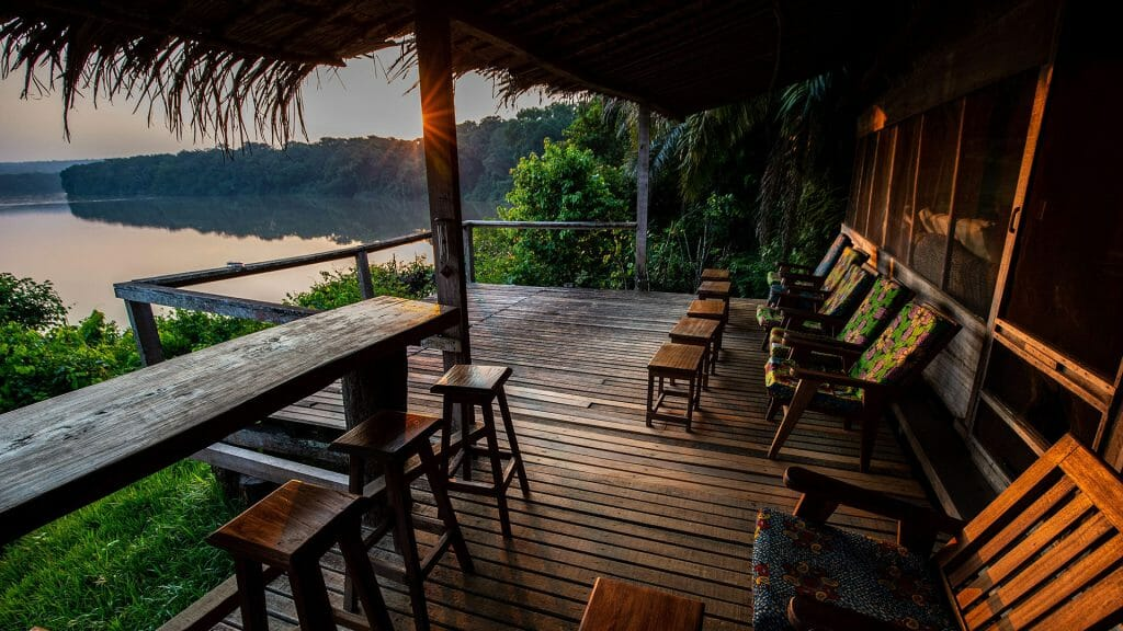 View of the river, Sangha Lodge, Dzanga Sangha