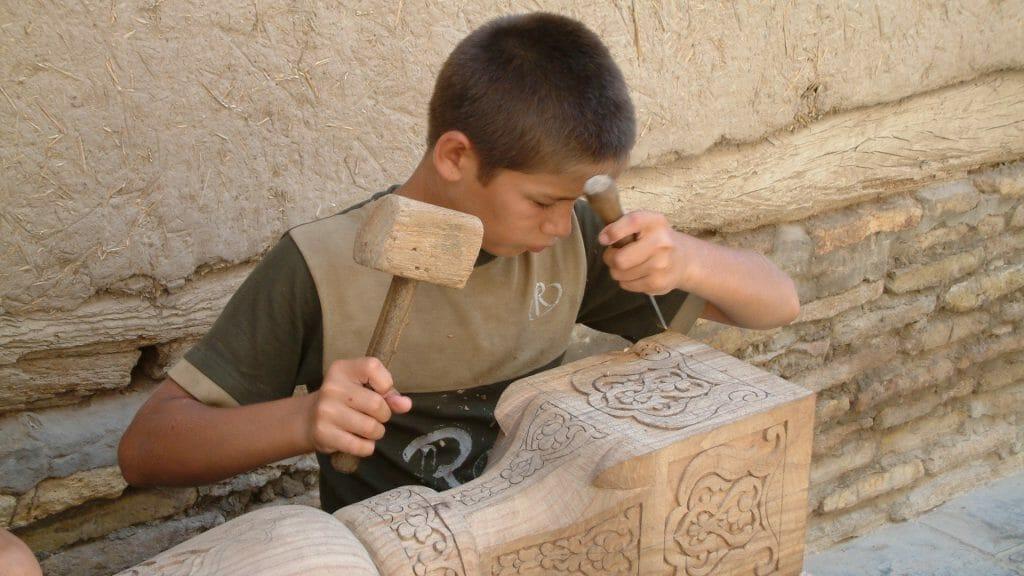 Woodworker, Khiva, Uzbekistan