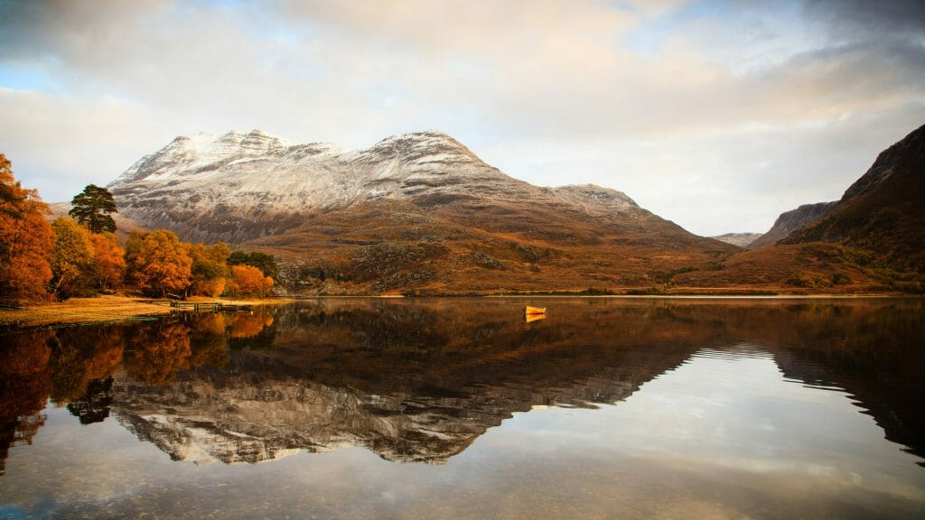 Autumn on Loch Maree, Scotland