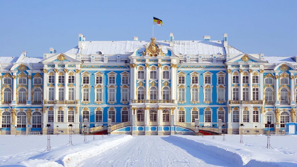 The Catherine Palace, Tsarskoye Selo, Pushkin, Saint-Petersburg, Russia