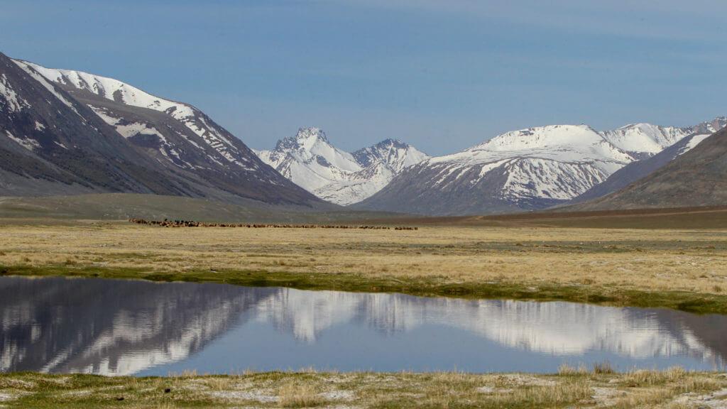 Lake and Mountains, Chigertei, Mongolia