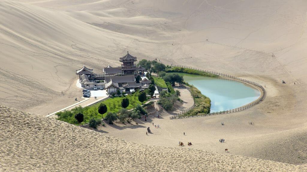 Crescent Moon Lake, Dunhuang, China