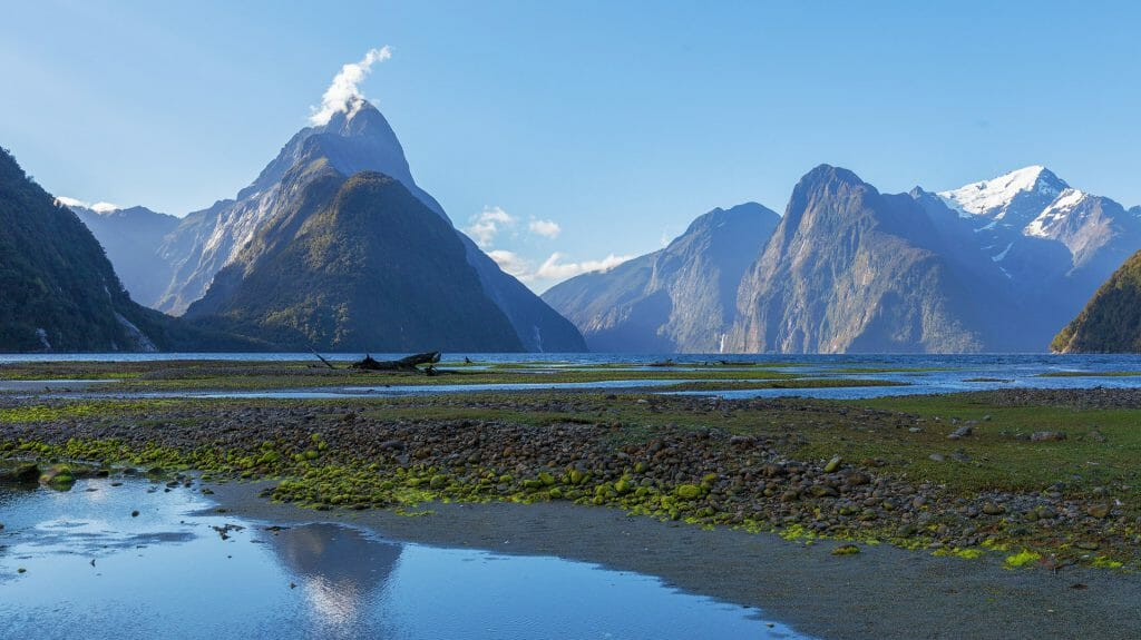 Mitre Peak at Milford Sound, Fiordland National Park, New Zealand