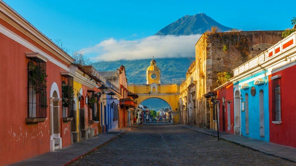 Santa Catalina Arch, Antigua, Agua Volcano, Guatemala