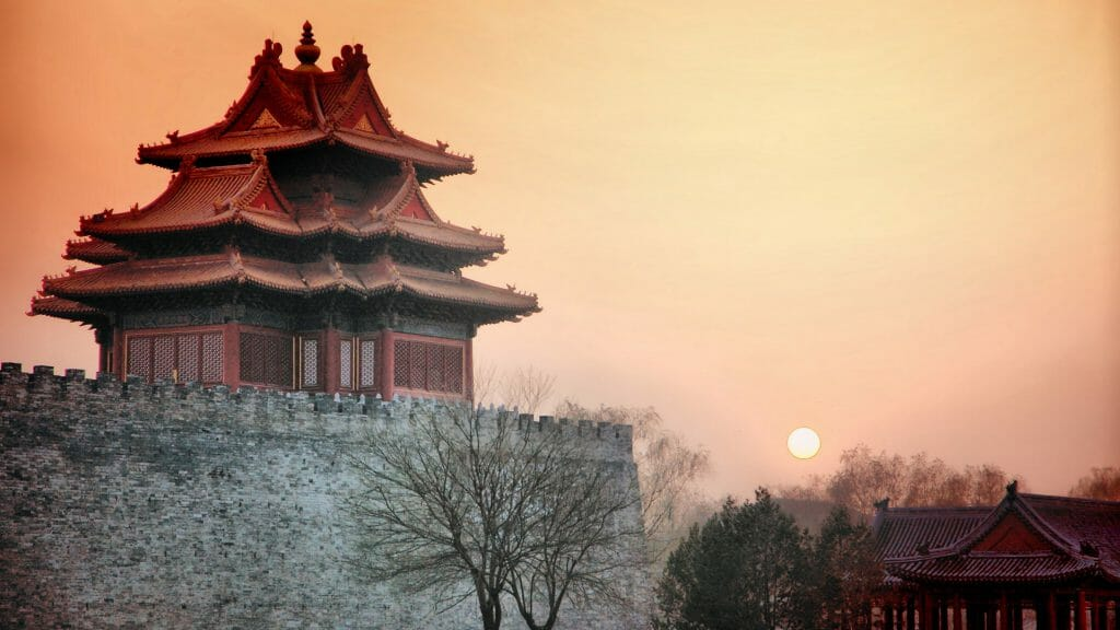 Sunset, Forbidden City, Beijing, China