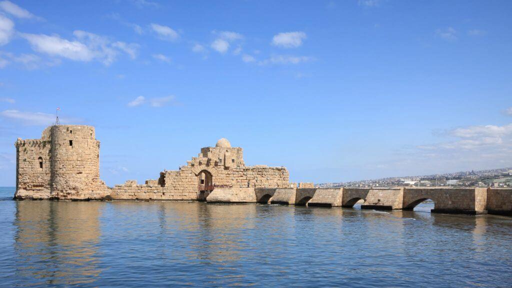 Sidon Crusader Sea Castle, Lebanon