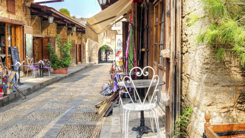 The Old Medieval Pedestrian Souk, Byblos, Lebanon