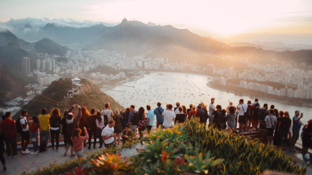 Crowd over Rio de Janeiro