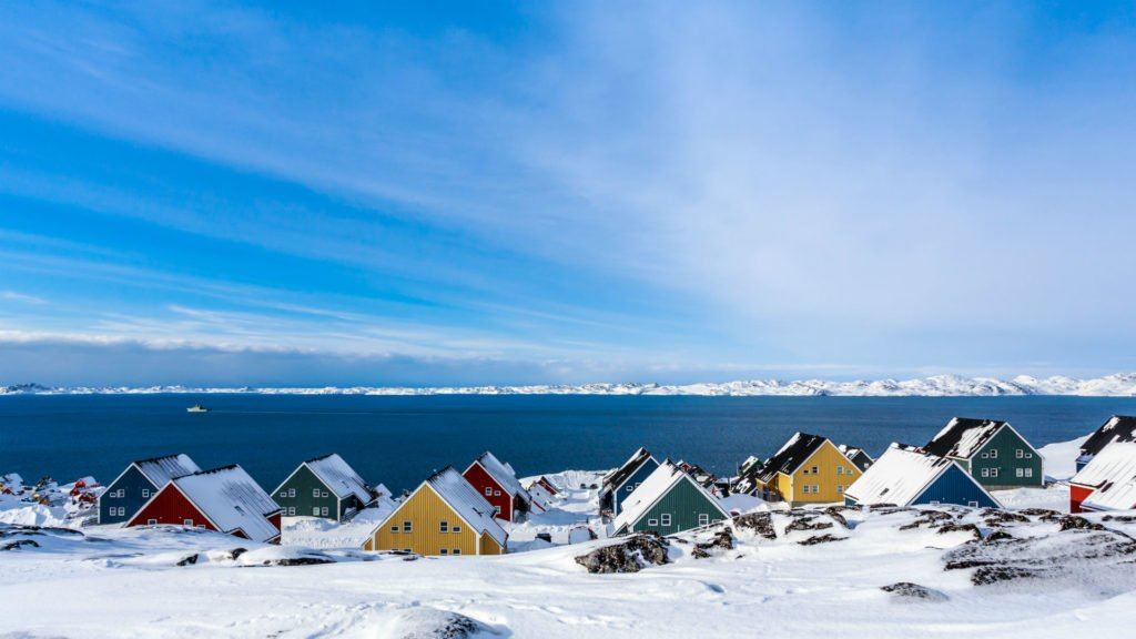 Inuit Houses ,Nuuk ,Greenland