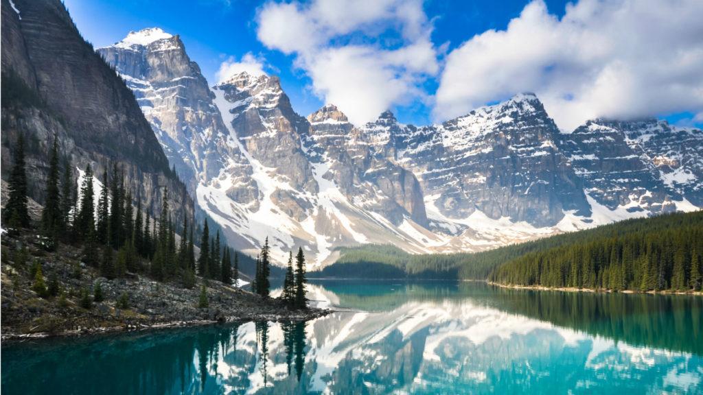 Moraine lake, Rocky Mountains,Canada