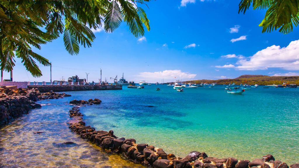 Bay, Pacific Ocean, San Cristobal Island, Galapagos Islands