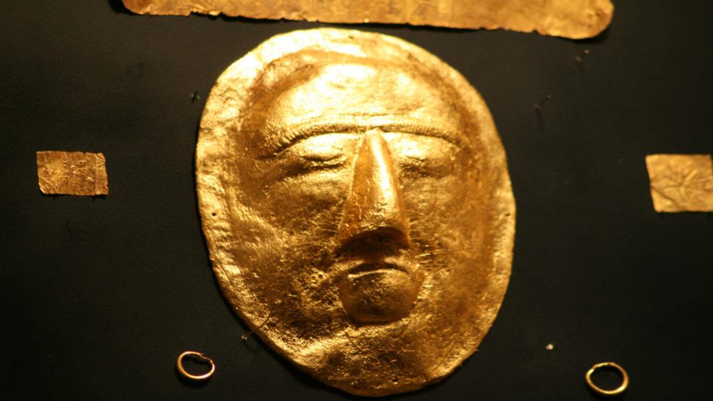 Gold mask, National Museum, Riyadh, Saudi Arabia