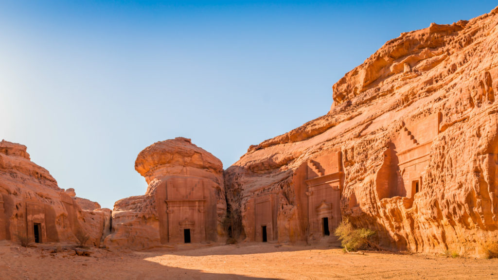 Arabian historical site Madain Saleh, Saudi Arabia