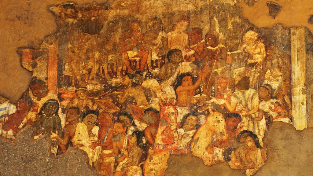 Wall paintings in Ajanta Caves