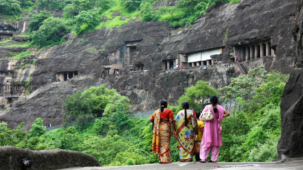 Ajanta caves local women