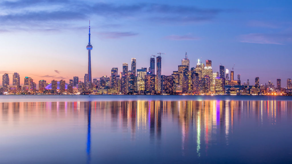 Toronto Sunset,  Canada, Eastern Cities and Niagara