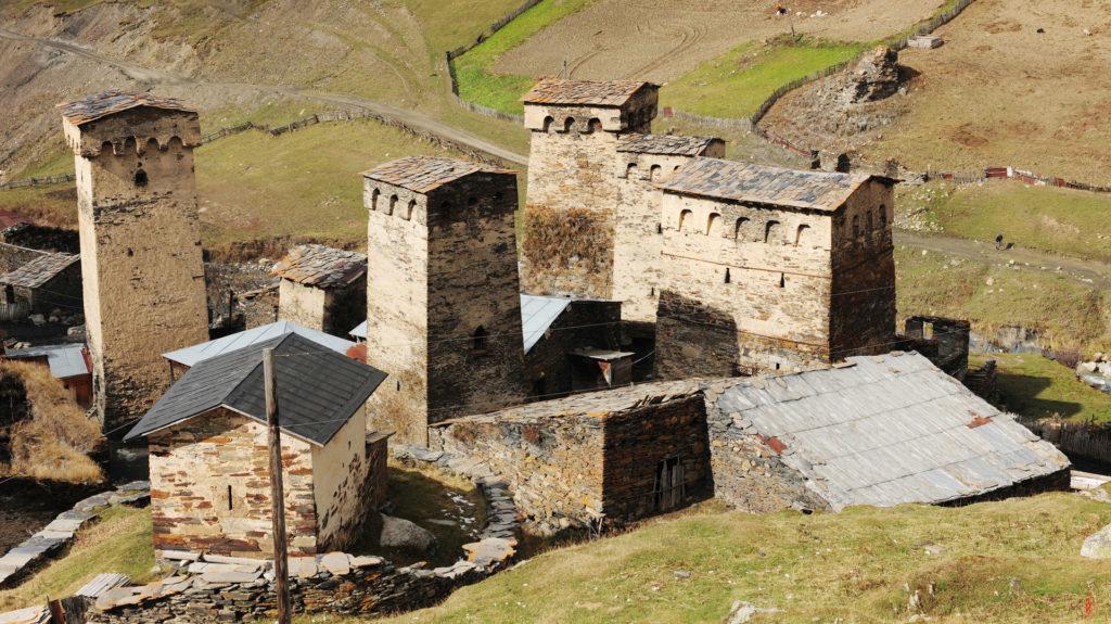 Tower Roofs, Ushguli, Upper Svaneti, Georgia