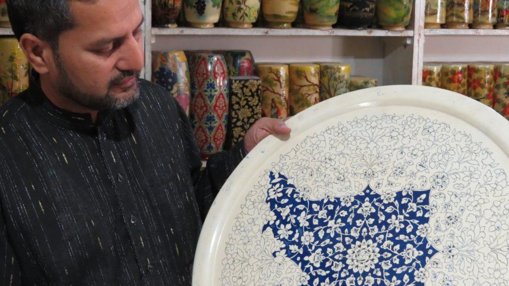 Tray Painting, Multan, Punjab, Pakistan