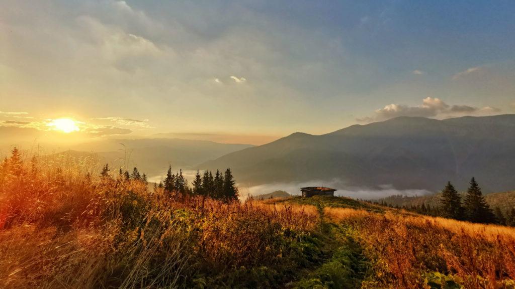 View from Bunea, Carpathian Mountains, Romania