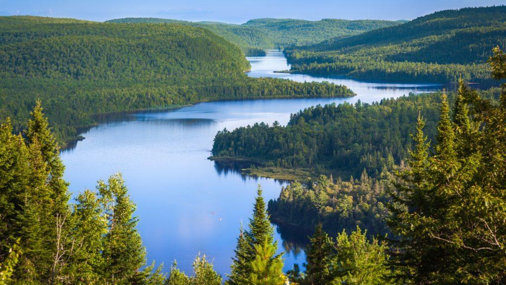 Wapizagonke Lake, Le Passage, La Mauricie National Park, Quebec, Eastern Canada