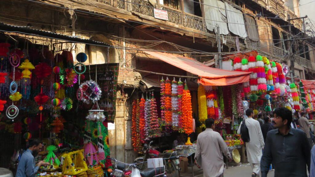 Wooden Houses with Balconies, Old Town, Lahore, Punjab, Pakistan