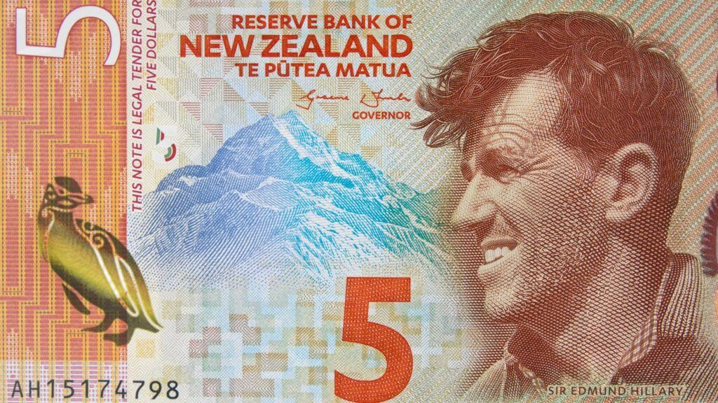 Five Dollar Note, Sir Edmund Hillary, New Zealand