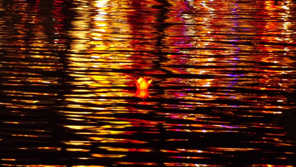 Floating candle in Hoi An