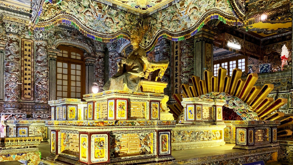Inside the palace at Hue