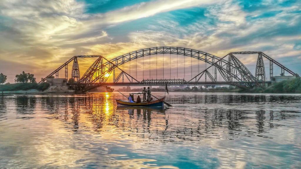 indus river side of sukkur, sindh, Pakistan