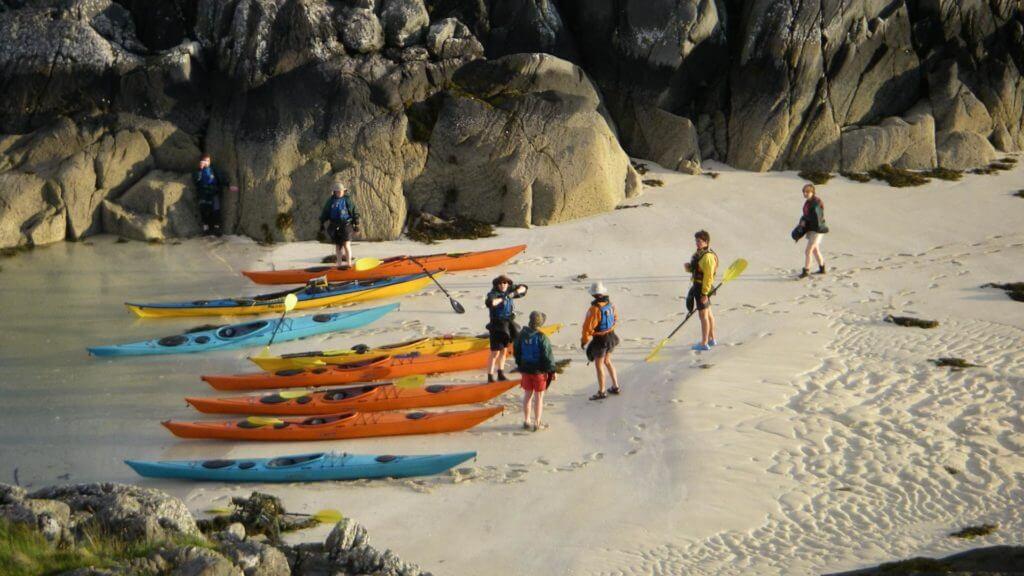 Sea kayaking at Arisaig, Scotland
