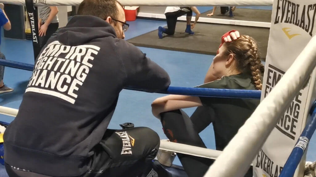 Ellie and Matt on the ropes