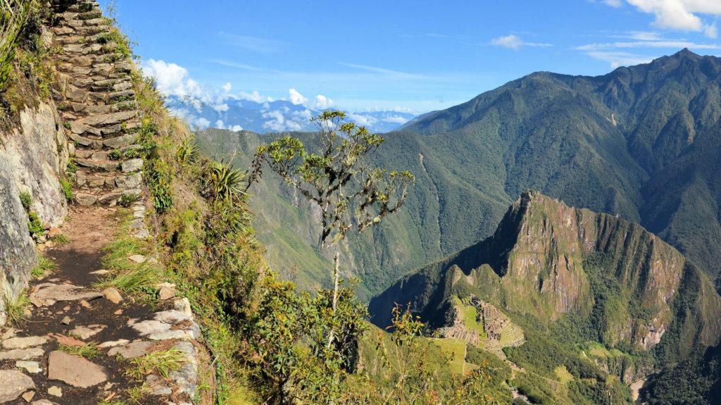 Inca Trail near Machu Picchu, Sacred Valley, Peru