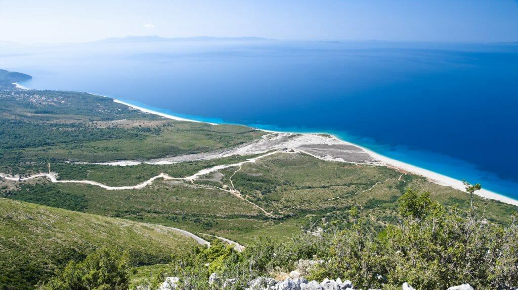 Albania Coastline near Llogara Pass, Albania