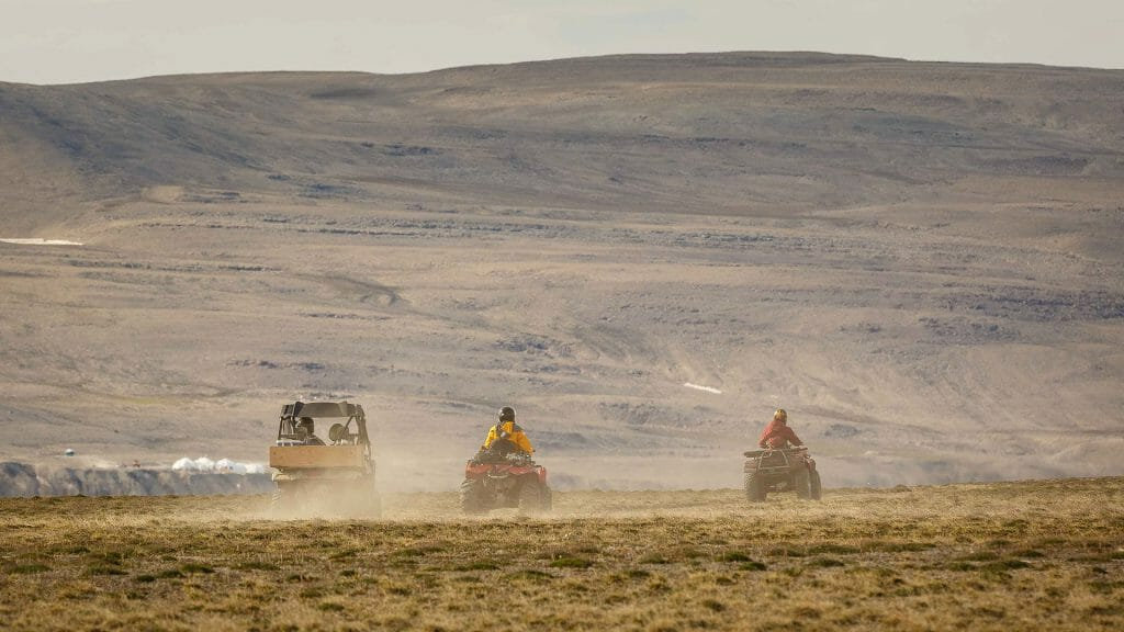 ATV across Tundra, Canadian Arctic