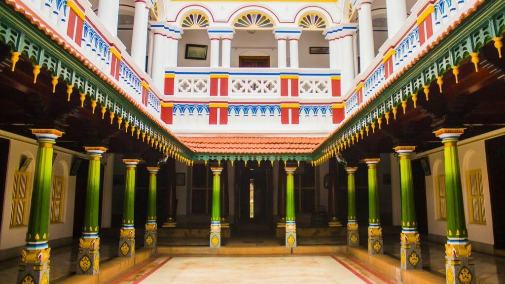 Chettinad Mansion, Chettinad, Tamil Nadu, India