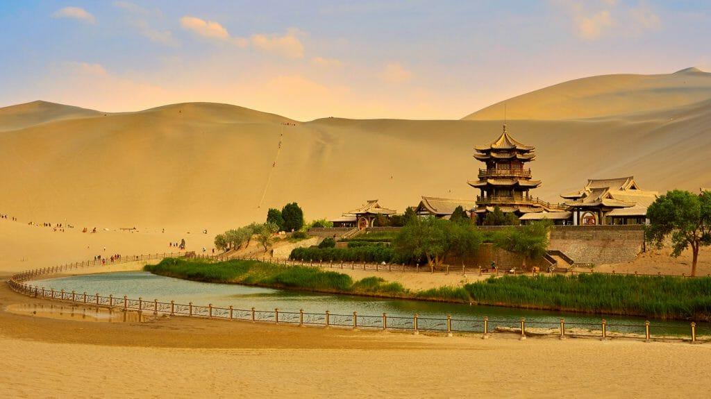 Dunhuang Crescent Moon Spring, Gansu, China