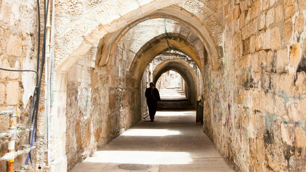 Empty Alley, Old City, Jersualem, Israel