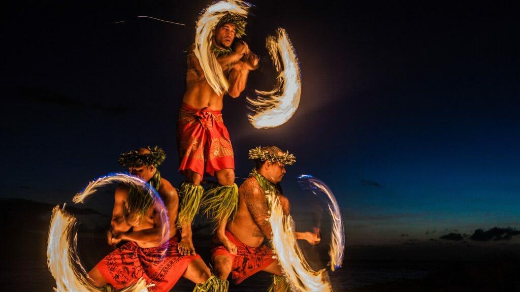 Luau Show, Fire Dancers, Hawaii, USA