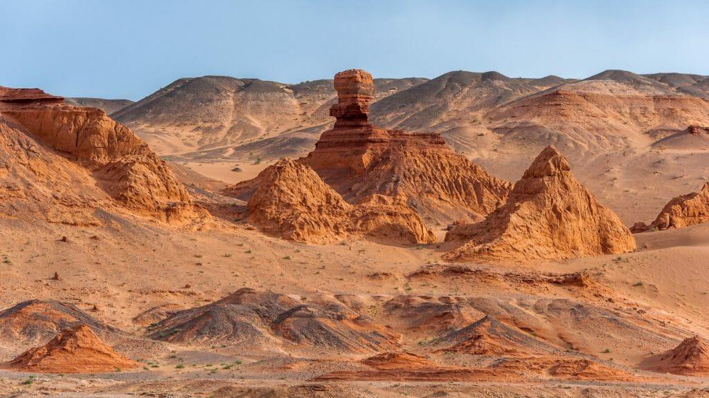 Desert view, Flaming Cliffs, Gobi Desert, Mongolia