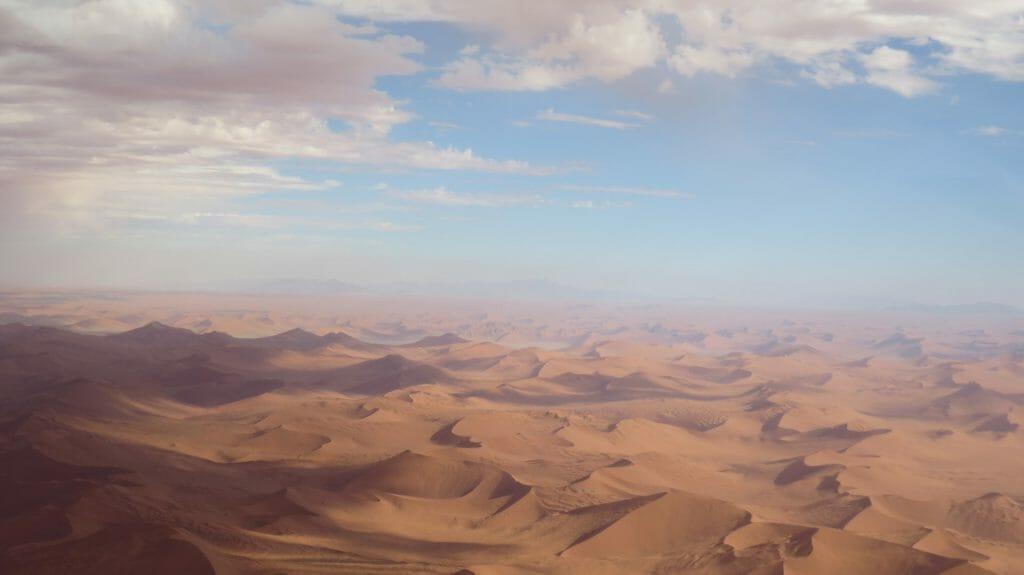 Flight over Dunes, Sossusvlei, Namibia