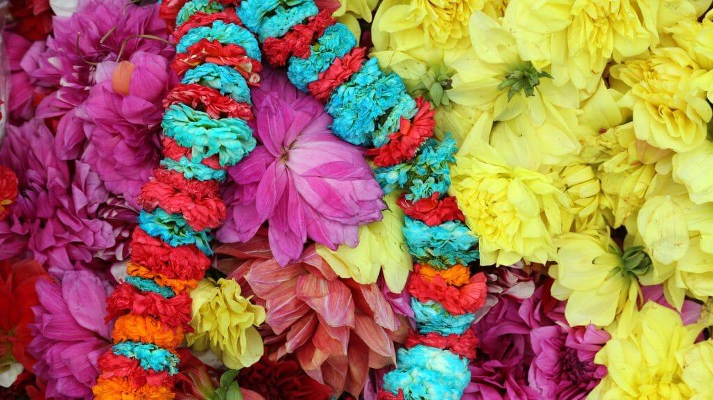 Flowers & Garlands, Flower Market, Kolkata, India