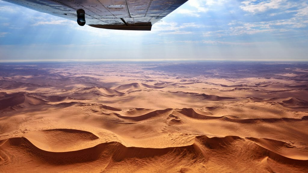 Flying safari, Skeleton Coast, Namibia